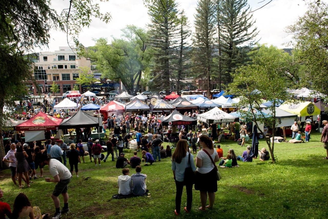 crowd shot at san juan brewfest