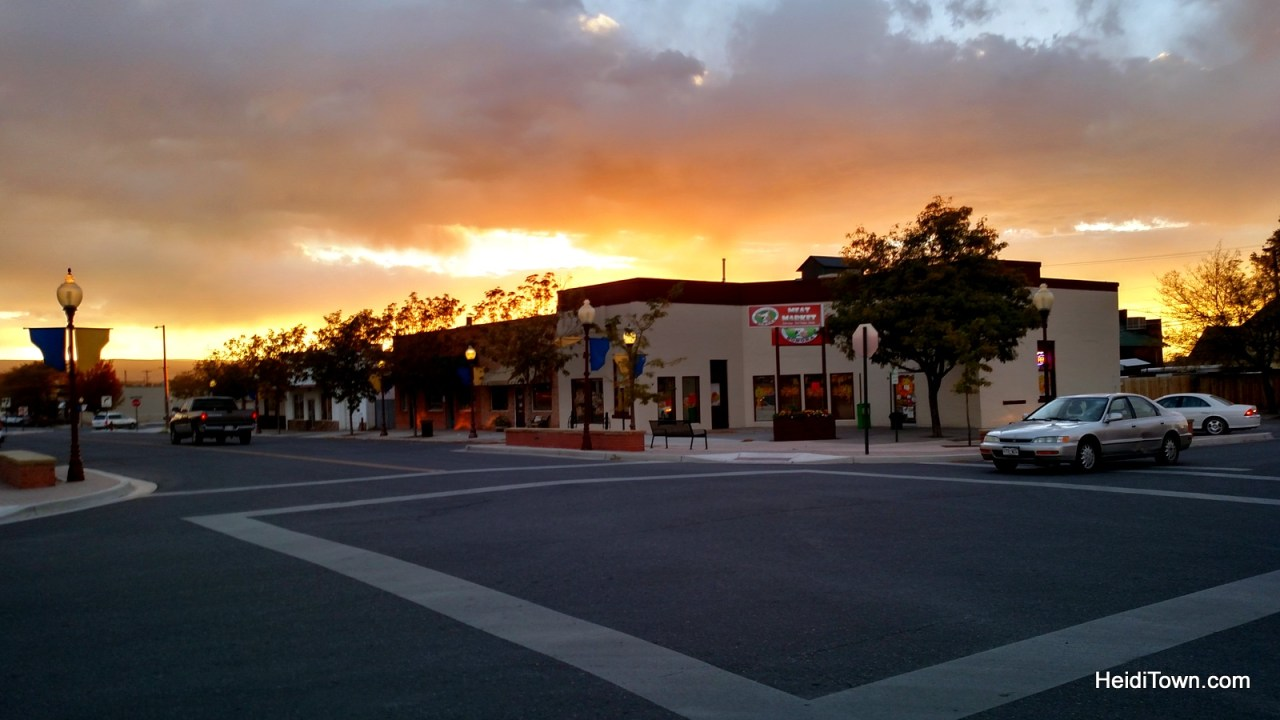 A sunset in downtown Montrose, Colorado. HeidiTown.com