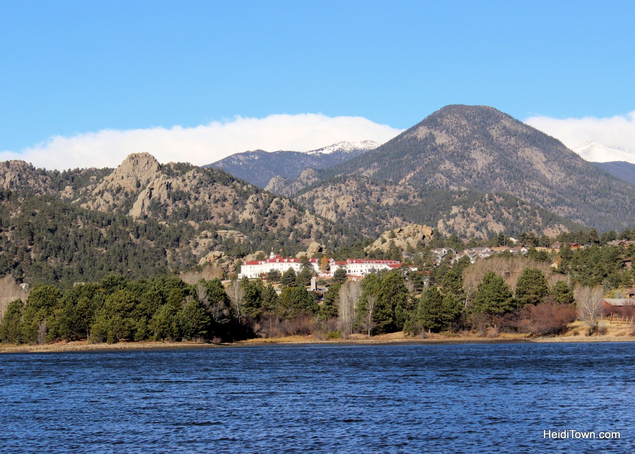 The Stanley Hotel across Lake Estes in Estes Park, Colorado, for adult getaways too. HeidiTown.com