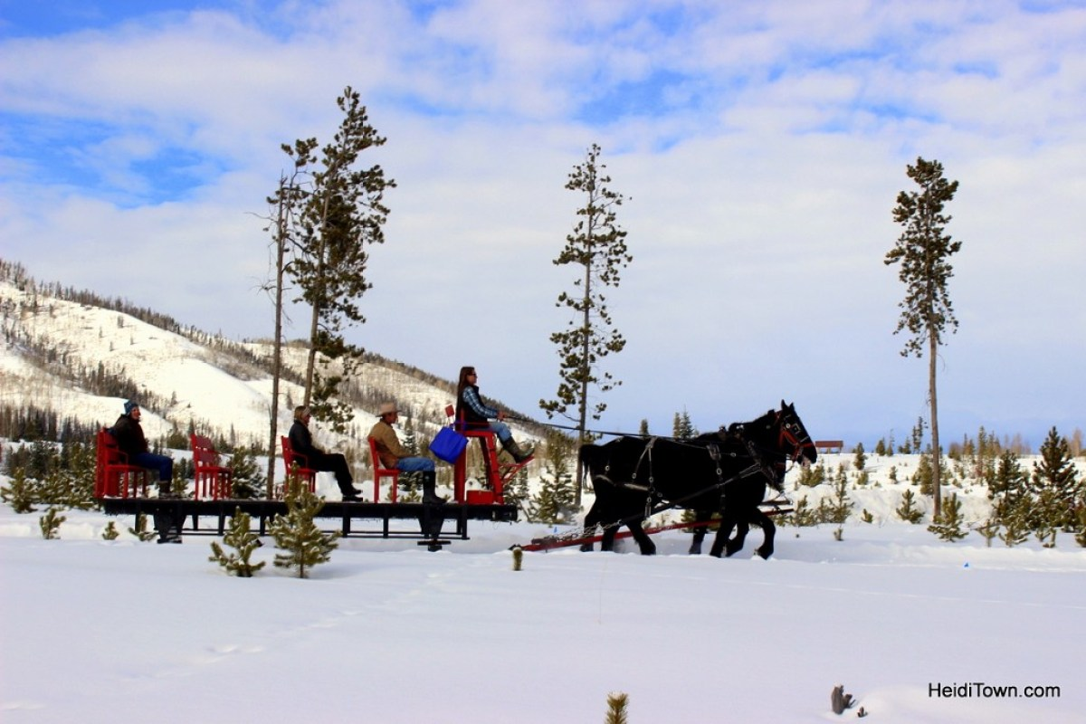 A sleigh ride at Snow Mountain Ranch 4. HeidiTown.com