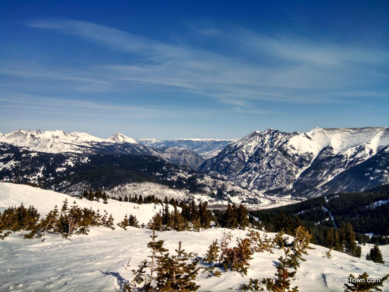 The view from the top of Copper Mountain. Colorado skiing. HeidiTown.com