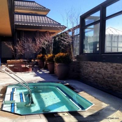 Ameristar Casino Resort outside rooftop hot tub. HeidiTown.com