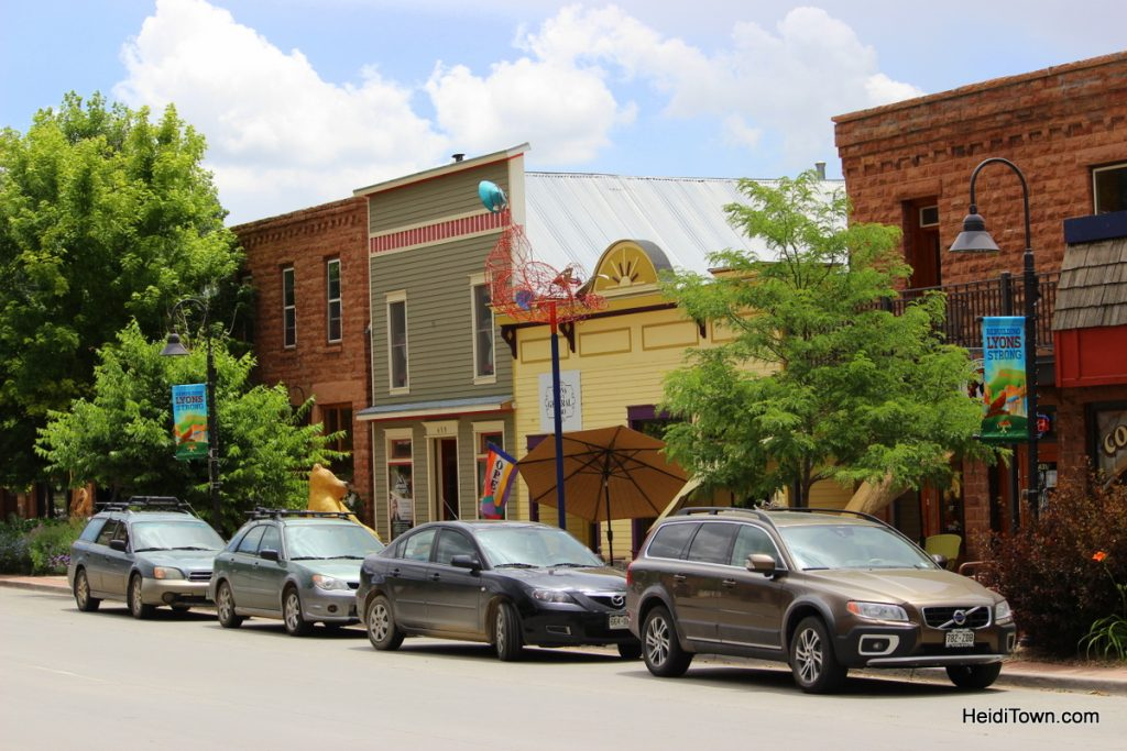 Downtown Lyons, Colorado. By Heidi Kerr-Schlaefer