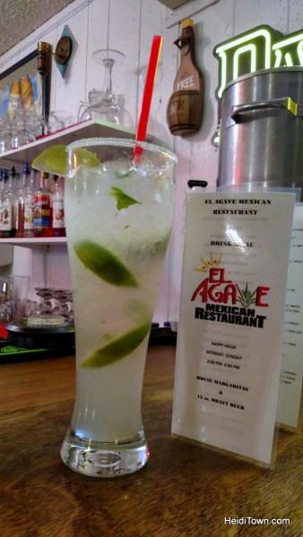 Rangely, Colorado's friendliest town. El Agave restaurant, mojito. HeidiTown.com