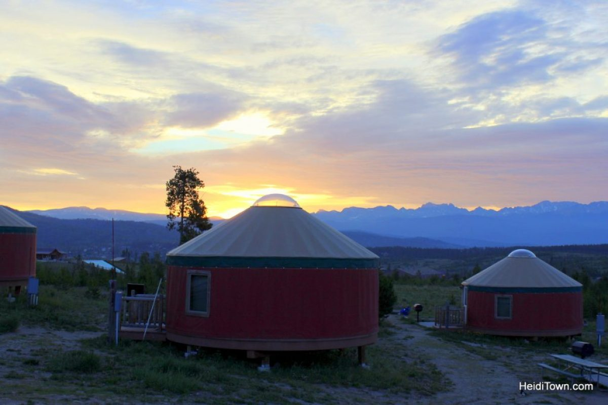 A stay at Yurt Village at Snow Mountain Ranch. sunrise over yurt village. HeidiTown.com
