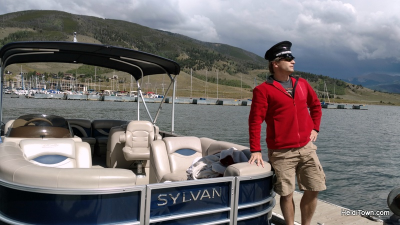 Fall in love with Frisco, Colorado this autumn. Lake Dillon pontoon boat captain. HeidiTown.com
