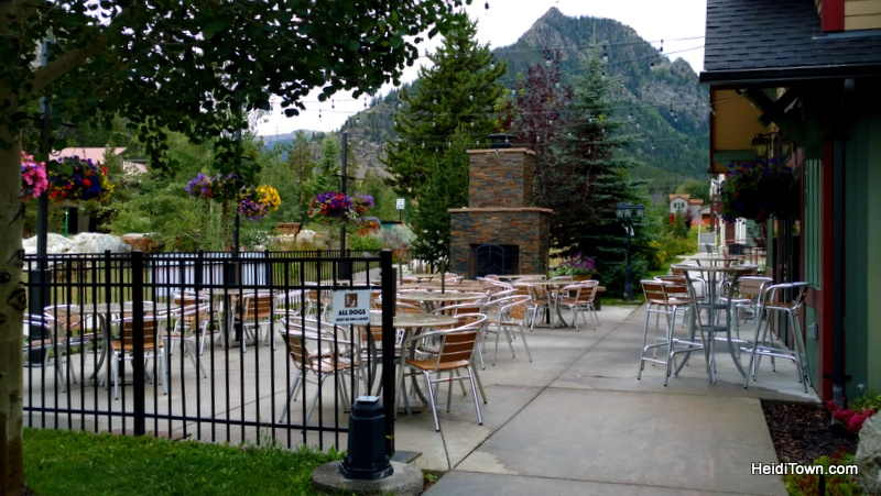 Fall in love with Frisco, Colorado this autumn. The patio at Tavern West. HeidiTown.com