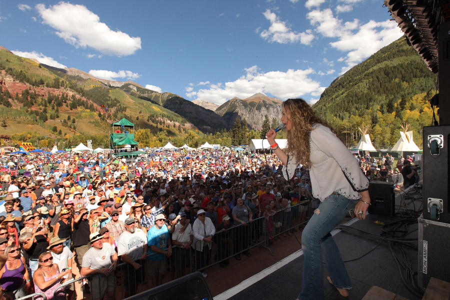 Telluride Blues & Brews stage shot. Featured Festival