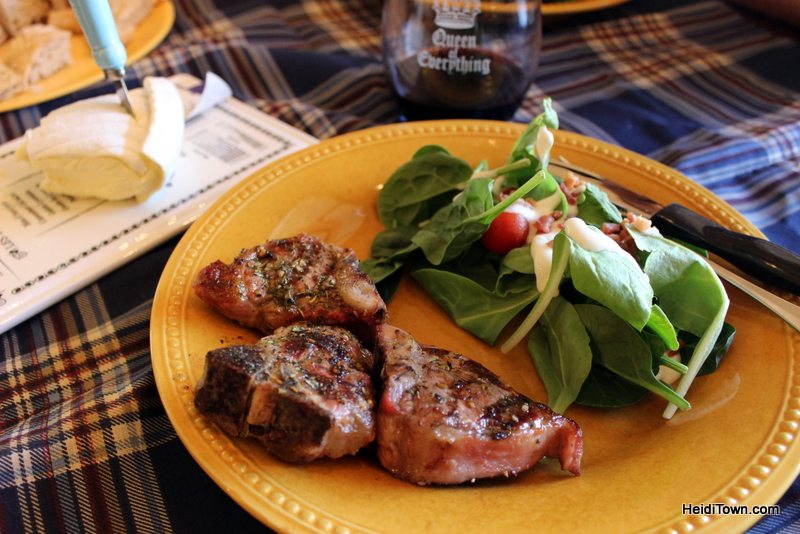 Lamp chops with spices from SkyPilot Farm & Creamery. HeidiTown.com