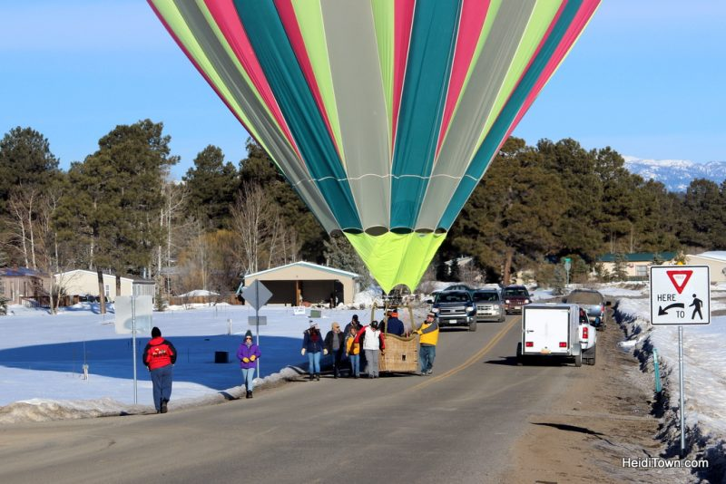 A Hot Air Balloon Ride in Pagosa Springs, Colorado with the Dickey Brothers. traffic jam HeidiTown.com