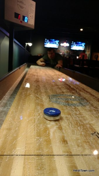 The Wild Game, not just for kids. shuffleboard in The Loft. HeidiTown.com