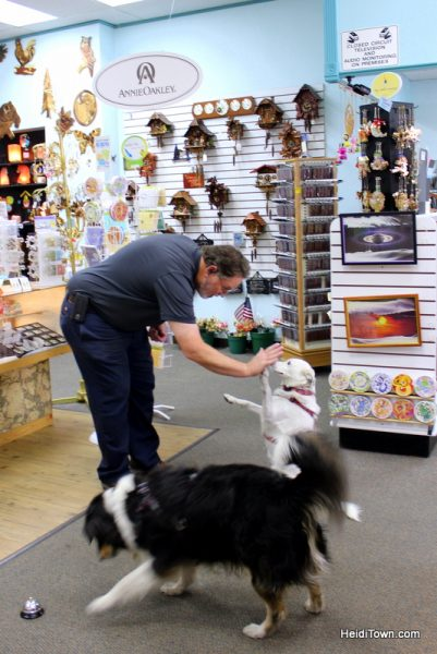 The Mayor Goes Shopping in Downtown Greeley, Colorado. King's Clocks. HeidiTown.com