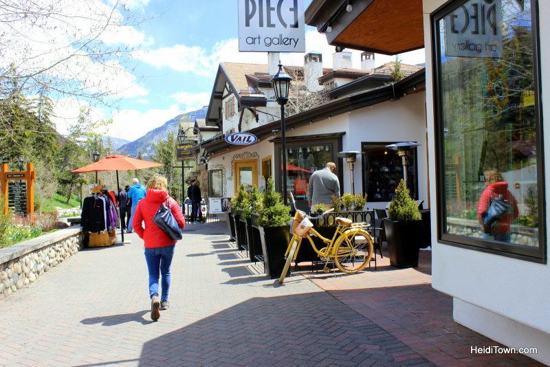 Five Reasons to Love Vail, Colorado. Shopping in Vail Village. HeidiTown.com