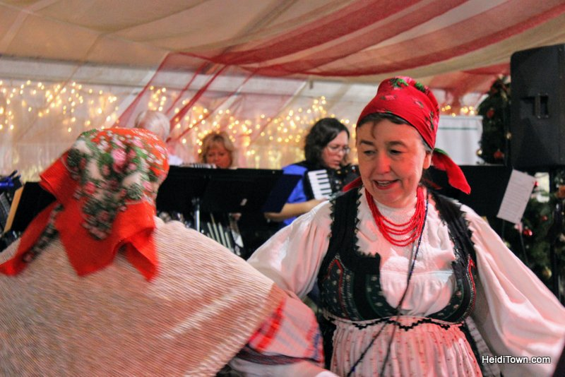 A Holiday Date Night in Denver With a Stay at Le Méridien. Denver Christkindl Market dancers. HeidiTown.com