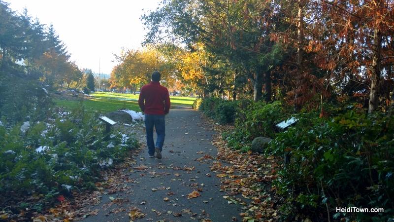 A Visit to Bellingham, Washington, the Mayor's Homeland. walking to downtonwn by Whatcom Falls HeidiTown.com