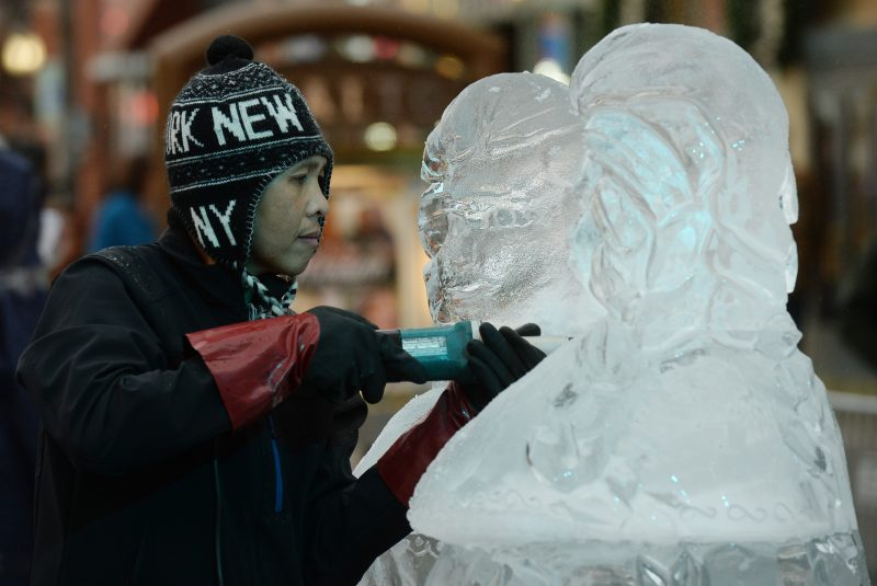 Featured Festival Loveland Fire & Ice 2018, Loveland, Colorado. ice sculpting. photo courtesy of the festival.