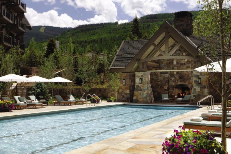 My Favorite Hotel Pools in the Colorado Rocky Mountains. HeidiTown. Four Seasons Vail Pool