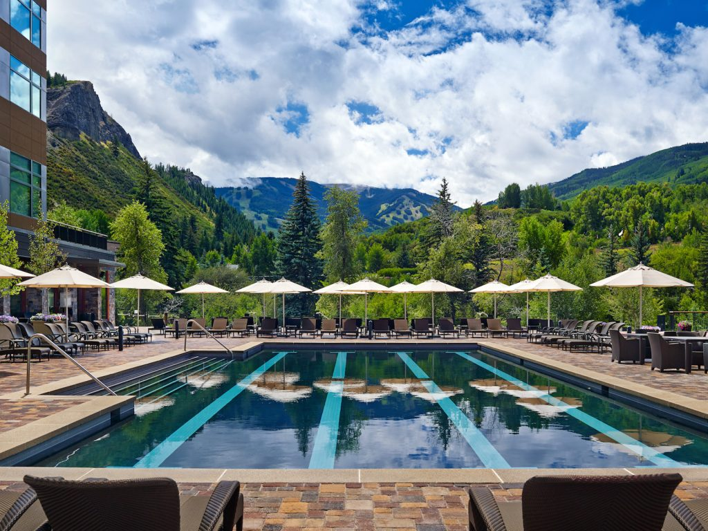 My Favorite Hotel Pools in the Colorado Rocky Mountains. The Peaks Telluride. The Westin pool