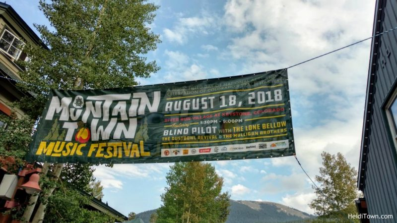 Stay in Keystone, Colorado. Mountain Town Music Festival 2018. HeidiTown.com