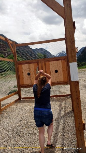 Connecting with My Ancestors Throwing Axes in Ouray, Colorado. HeidiTown (7)