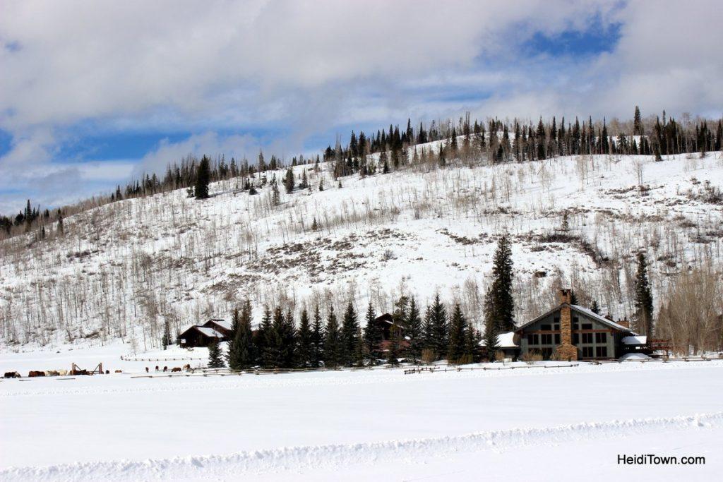 Vista Verde Ranch in winter. HeidiTown.com