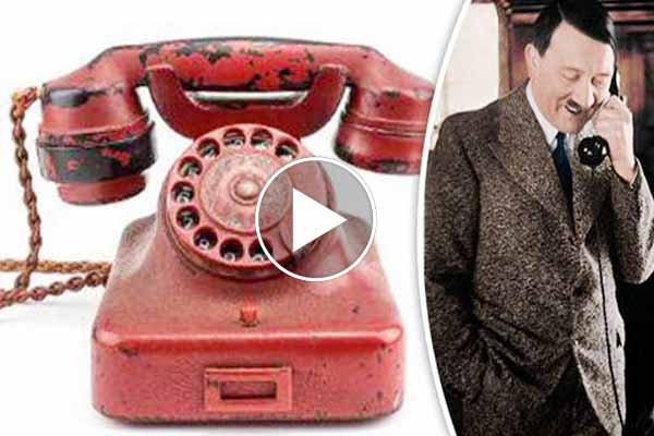 Million dollar opening bid Adolf Hitler used Telephone set sold for $243,000 in United States.