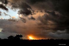 Windkracht 5, regen, hagel en de zon