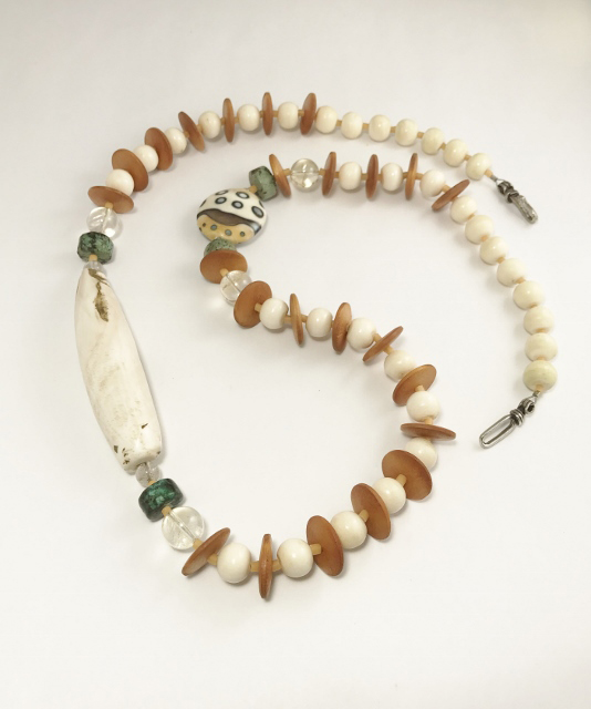 A Chapter From the Silk Road: from Asia, via Europe all the way to Africa – Long Single Strand Necklace