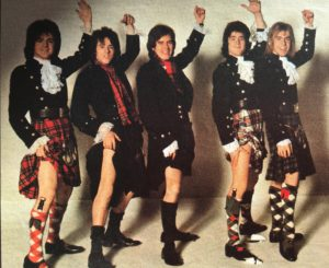 Bay City Rollers mit Kilt
