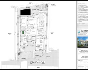 A-002 Ground Floor Plan A-001 Site Setting