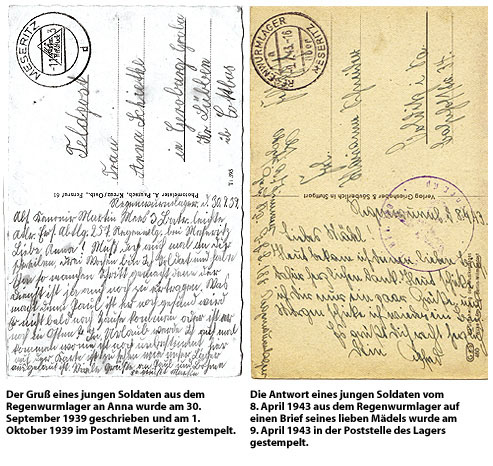 Feldpostkarten - Regenwurmlager bei Kainscht