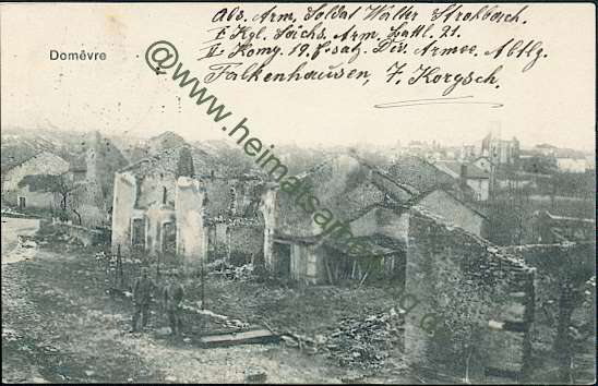 Domèvre en Haye, France in 1915
