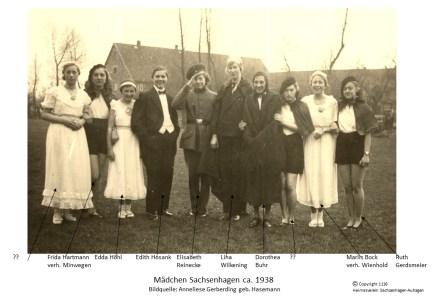 1116 1938 Mädchen Sachsenhagen