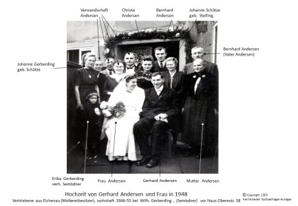 1303 1948 Hochzeit Andersen Gerhard