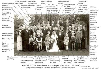 1305 1950 Erich Wienholt Marlis Bock Hochzeit