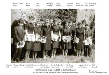1511 1965 Konfirm Sachsenhagen