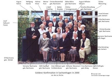 1516 2000 Gold Konfirm Sachsenhagen