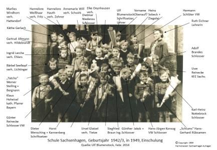 1909 1950 Schule Einschulung geb1942