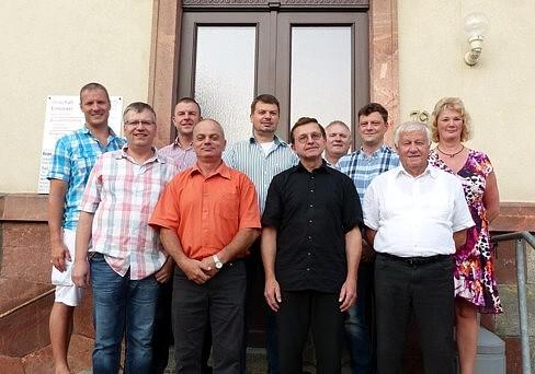 Der Ortschaftsrat Einsiedel am 4. September 2014