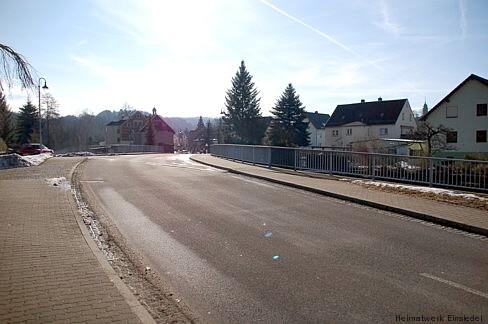 Die Doktorbrücke am 1. März 2009. Die Gesamtlänge der Brücke beträgt übrigens 55,26 m.