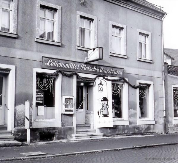 Lebensmittel HO in Einsiedel in der Hauptstraße 68 1972.