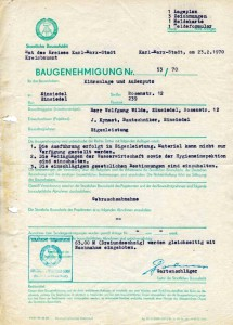 Baugenehmigung Rosenstraße 12 1970