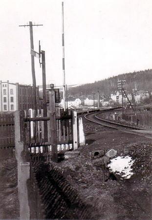 Bahnübergang Schrebergartenweg Einsiedel Ende der 1930er Jahre