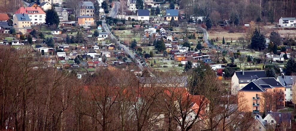 Schrebergartenweg Einsiedel Dezember 2009