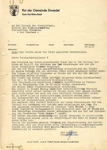 Ablehnung Gemeinde 1971