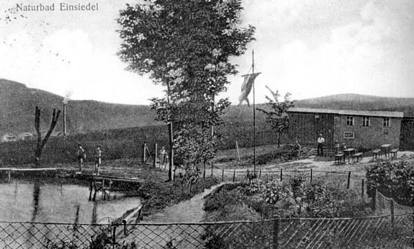 Postkarte Naturbad Einsiedel