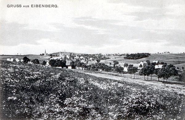 Die Eibenberger Straße in Einsiedel führt (man ahnt es fast) nach Eibenberg.