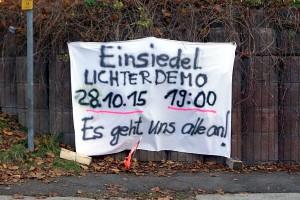 Hinweisbanner Lichterdemo 28.10.15