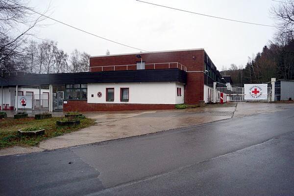 Asyl-Erstaufnahmelager Chemnitz Einsiedel am 29.11.15