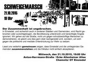 Aufruf Demo Einsiedel 21.10.15
